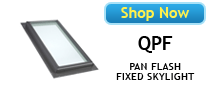 Velux QPF Pan Self Flash Fixed Skylights Available at BestSkylights.com