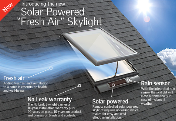 VSS -  Solar Powered Fresh Air Skylights by VELUX