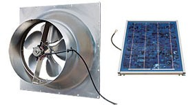 10 Watt Gable Solar Attic Fan by Natural Light