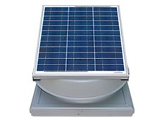 30 Watt Curb Mount Solar Attic Fan by Natural Light